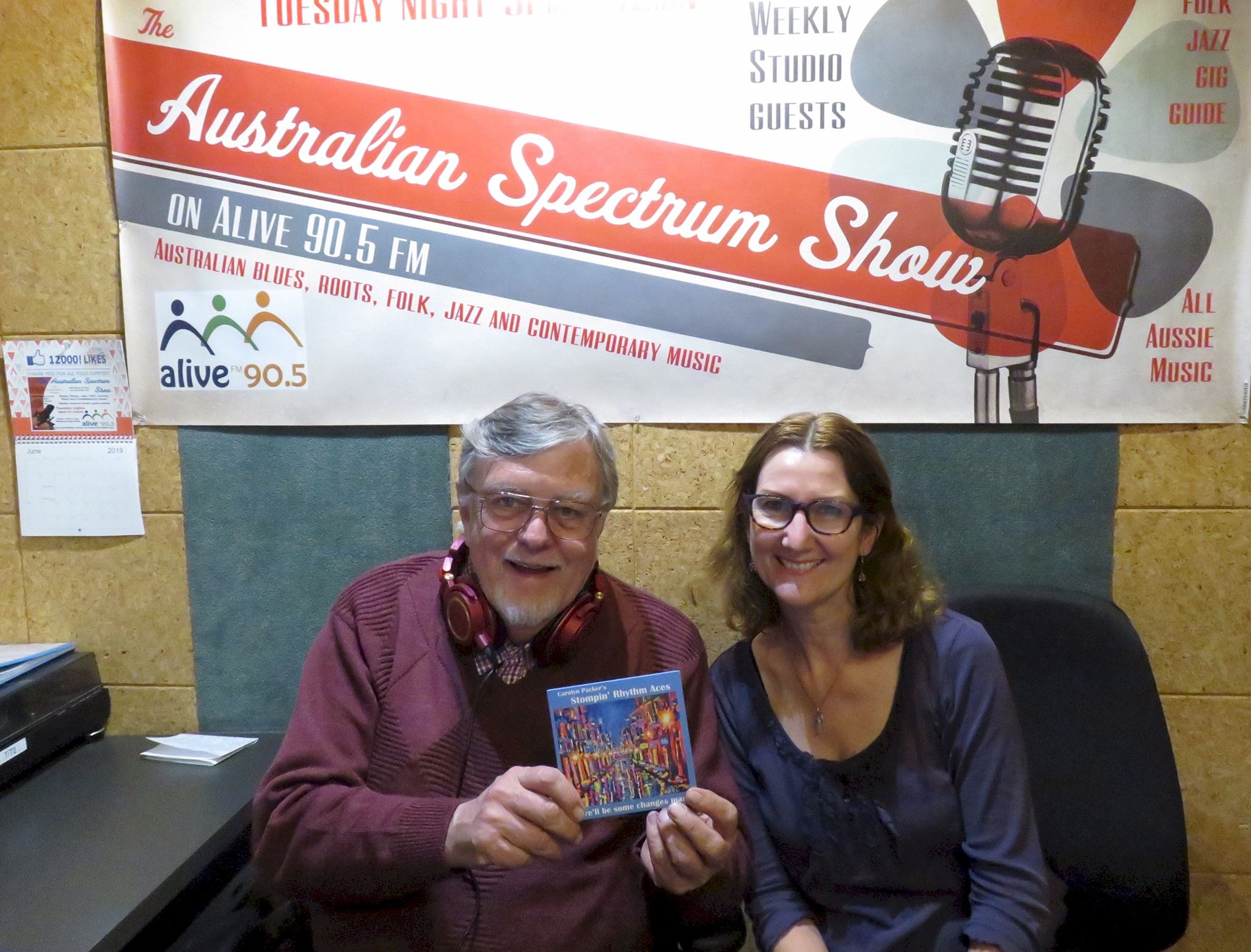 Carolyn Packer with Ross Fear on his Australian Spectrum music show