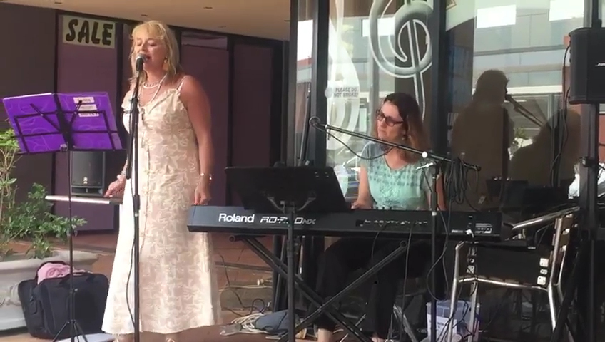 Leanne Peters at the Treble Clef Cafe. Carolyn Packer on piano